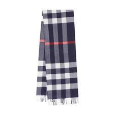 Burberry巴宝莉经典格纹羊毛羊绒围巾