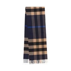 BURBERRY博柏利羊毛羊绒格纹长条围巾