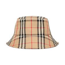 BURBERRY博柏利经典条纹女士水桶帽渔夫帽