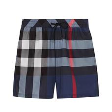 BURBERRY博柏利格纹抽绳泳裤男士短裤XL码