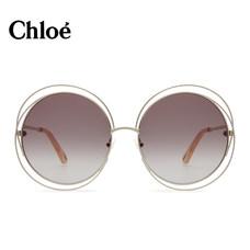 Chloe蔻依太阳眼镜墨镜女时尚大框圆形CE114SD—紫色58