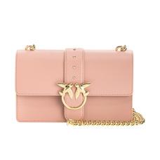PINKO品高女士链式斜挎包粉色